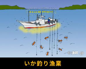 いか釣り漁業